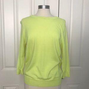 J. Crew Merino Wool Tippi Soft Neon Yellow sweater